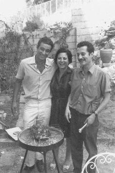 غسان كنفاني مع شقيقته فايزة وشقيقه مروان