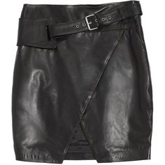 GUESS by Marciano Elin Kling for Marciano – Masha Leather Skirt ($398) ❤ liked on Polyvore