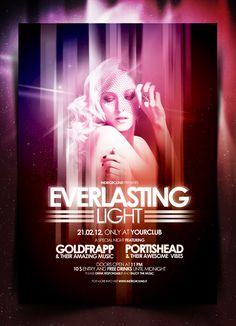 """Nightclub Flyer/Poster Vol. 4"" - Photoshop Psd Template"