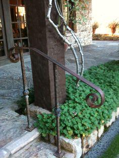 simple iron railing