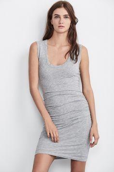 Varella Gauzy Whisper Ruched Sleeveless Dress, Velvet by Graham and Spencer. https://velvet-tees.com/women/spring-2017-collection/varella-gauzy-whisper-ruched-sleeveless-dress.html