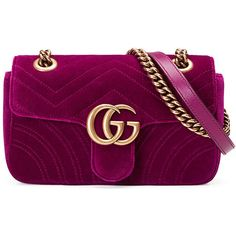 Gucci GG Marmont 2.0 Mini Quilted Velvet Crossbody Bag (17.261.495 IDR) ❤ liked on Polyvore featuring bags, handbags, shoulder bags, dark fuchsia, handbags crossbody bags, purse crossbody, hand bags, shoulder handbags, cross-body handbag and mini shoulder bag