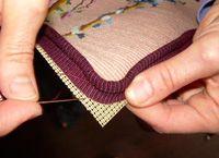 Finishing a needlepoint cushion/pillow
