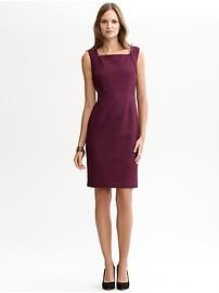Emmie jacquard sheath.  Can I have this in every color?  #BananaRepublic