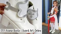 diy asuna sao cosplay shoes - YouTube