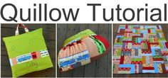 Cutie Roads Quillow - Quillows are a big trend, and this tutorial from @Nova Flitter can show you how to make one using a cute rail fence pattern. Now your kids can have a comfy pillow design that folds out into a cozy quilt that they can take anywhere.