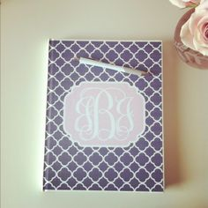 Free customized printable monogram. Great for binders!