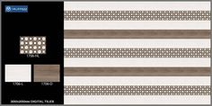 #diygital Wall Tile #Design 1706 - Millennium Tiles 200x300mm (8x12) #Digital Ceramic #Wood Effect Wall #Tiles Series   - 1706_HL  - 1706_L  - 1706_D  - Digital Tiles: Digital tiles will have a single coat of pigment nearly 1or 2 mm. It is not suitable for heavy traffic. As the name suggests, any design can be printed on this types of tiles or u can even customize the design of tile with your photo or any picture. #interiordesign #diy #tiledesign #b2b