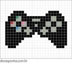 Um blog sobre ponto cruz, gráficos, bordados, mensagens Bead Loom Patterns, Perler Patterns, Beading Patterns, Cross Stitch Games, Mini Cross Stitch, Pixel Crochet, Crochet Cross, Cross Stitching, Cross Stitch Embroidery