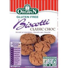 Orgran Biscuits Biscotti Class Chocolate - product for sale online. Dog Food Recipes, Healthy Recipes, Biscotti, Oven, Gluten Free, Breakfast, Desserts, Glutenfree, Morning Coffee