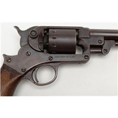 """Starr Single Action Model 1863 Army percussion revolver, .44 cal., 8"""" round barrel, blue finish, w"""