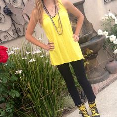 💥3x HOST PICK💥🌹Ella Moss Top Vibrant yellow Ella Moss tank. Soft cotton. Shown in pictures on size small frame, but can fit size medium too (no size tag in shirt). Great staple piece for your wardrobe. Ella Moss Tops