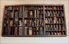 I passed up a letterpress tray at an antiques store on the coast, because I didnt have room to carry it. Regret!