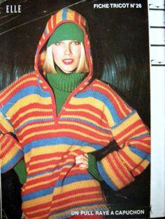 1975 Striped Knit Hoodie