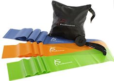 ProSource Therapy Flat Resistance Bands Set of 3 each-Extra Long) for Stretching, Pilates, and Rehabilitation with Door Anchor - Unique Exercise Pilates Workout, Workout Gear, Pilates Yoga, Cardio, Physical Therapy Exercises, Upper Body, Stay Fit, At Home Workouts, Booty