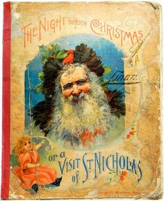 1896 - The Night Before Christmas - Antique Santa Claus Book.