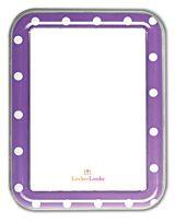 Purple w/ white dots white board Locker Organization, Locker Decorations, School Lockers, Dry Erase Board, Boards, Dots, Messages, Purple, Frame