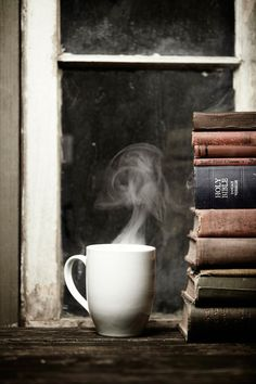 My coffee time Coffee And Books, I Love Coffee, Coffee Art, Coffee Break, My Coffee, Morning Coffee, Coffee Shop, Coffee Cups, Tea Cups