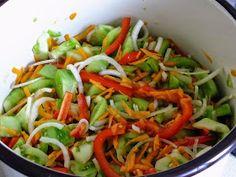 z cukrem pudrem: sałatka z zielonych pomidorów Cos, Preserves, Pickles, Green Beans, Vegetables, Cooking, Preserve, Preserving Food, Vegetable Recipes