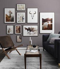 Fotowand in de woonkamer   Maak een mooie foto muurschilderingen in de woonkamer
