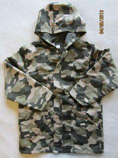 Gymboree Boys XS 3 4 3T 4T s 5 6 Rain Coat Jacket Green Camo Baseball Champ   eBay