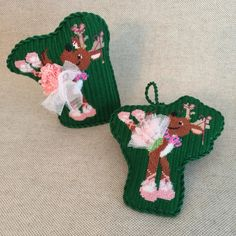 Dancer reindeer finished as a Stand-up or ornament