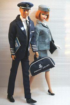 American Airlines Captain ~ Ken | Flickr - Photo Sharing! Barbie Y Ken, Ken Doll, Barbie Dream, Vintage Barbie Kleidung, Vintage Barbie Clothes, Vintage Dolls, Barbie Diorama, Barbie Accessories, Barbie Collector