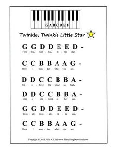 counting stars keyboardalphabet on a paper