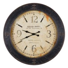 Rustic Grand Hotel Iron Clock