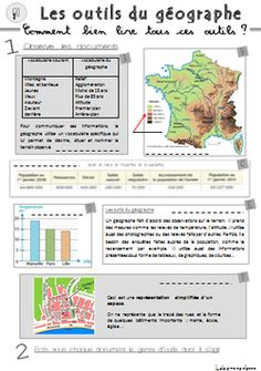 G0 les outils du géographe Teaching Materials, Teaching Resources, France Geography, Flags Europe, Teachers Corner, French History, Teaching French, Science For Kids, Social Studies