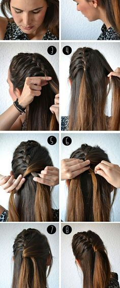 Diy semi collected braid