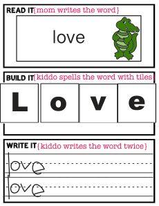 Read it, spell it, write it printable