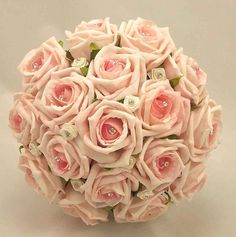 Pink roses wedding bouquets and Engagement, bridal flower decorations