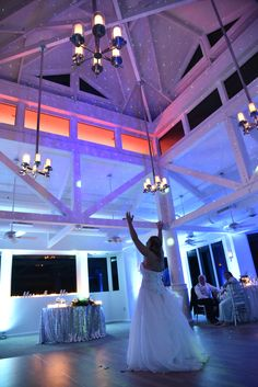 Blue and real uplights, wedding reception. Elegant, cool colors, stunning,