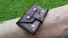 Handmade Leather Envelope Pouch / Wallet / Credit Card by Daoskunk