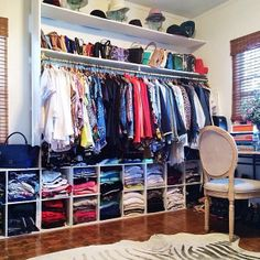 But flipped so hanging clothes are on the bottom