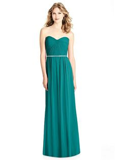 Indulge a red carpet fantasy with this full-length lux chiffon bridesmaid dress. A pleated bodice and sweetheart neckline offer gorgeous emphasis that accents a stacked mirror beaded trim at its natural waist, adding to a glam look. Jenny Packham Bridesmaid Dresses, Navy Blue Bridesmaid Dresses, Grey Bridesmaids, Photomontage, Pleated Bodice, Jason Wu, Michelle Obama, Audrey Hepburn, Bristol