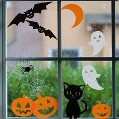 Friendly Window Clings by torches123 on Etsy