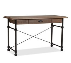 {Warren Desk | Pottery Barn} -- Thinking of using this as a console table in the living room rather than as a desk.