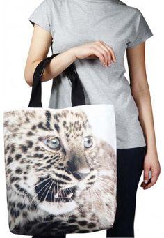 Bolsa Sacola Baby Leopardo  De: R$157,10  Por: R$67,90