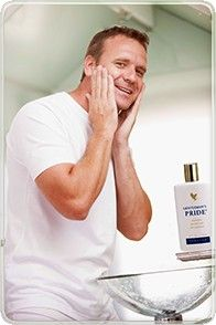 Gentleman's Pride is an alcohol-free aftershave balm with Aloe vera! Available from www.kimandterry.myforever.biz