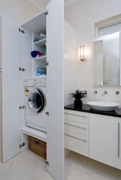 Bathroom & Laundry Combo, why not have them together to save space? Having…