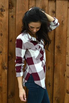 Touchdowns and Tailgates Plaid Blouse- Ivory