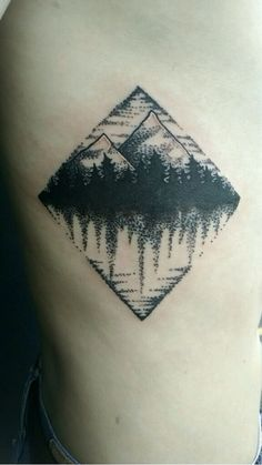 Mountain Pointillism Tattoo