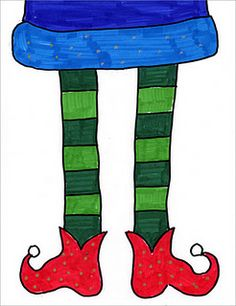 Elf Feet Drawing (Art Projects for Kids) Christmas Art For Kids, Christmas Art Projects, Christmas Arts And Crafts, Winter Art Projects, School Art Projects, Projects For Kids, Christmas Elf, Christmas Ideas, Witches