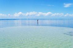 Lagoons off Moreré Beach, Boipeba island, Bahia, Brazil