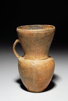 Decorated Vinca Culture Jug -- Circa 2500 BCE -- Excavated in Modern-day Serbia -- No further reference provided.