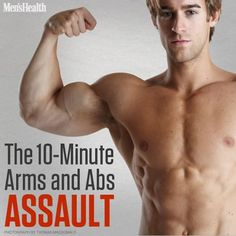 Simple? Yes. Easy? No. Are you up for this challenge? #arms #workout #exercise http://www.menshealth.com/fitness/10-minute-arms-and-abs-assault