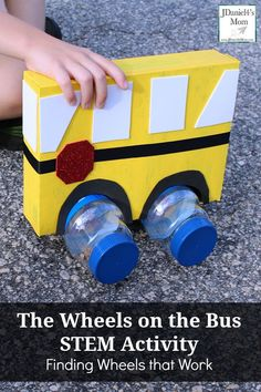Wheels on the Bus STEM Activity Finding Wheels that Move The Wheels on the Bus STEM Activity Finding Wheels that Work Transportation Activities, Steam Activities, Preschool Learning Activities, Preschool Science, Toddler Activities, Rainbow Activities, Preschool Rooms, Stem Science, Educational Activities