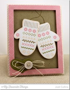 Diamonds and Dots Borders, Nordic Knits, Blueprints 13 Die-namics, Blueprints 20 Die-namics, Cozy Mittens Die-namics, Rectangle Frames Die-namics - Jodi Collins #mftstamps
